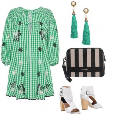 Outfit Vichy in verde
