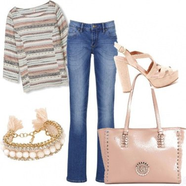 Outfit Basic rosa cipria