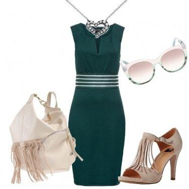 Outfit Borsa e scarpe con le frange