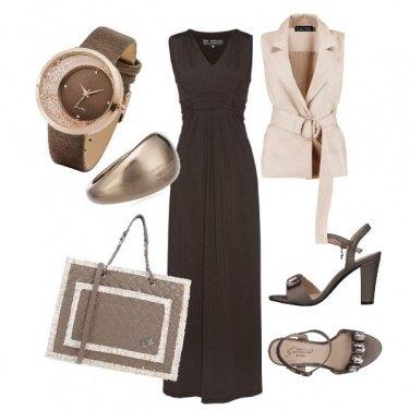 Outfit Cioccolato e nocciola