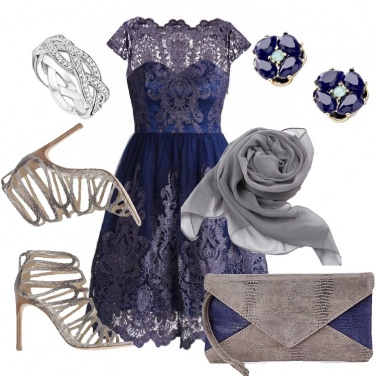 Outfit Curvy in blu