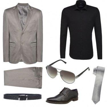 Outfit Matrimonio in grigio