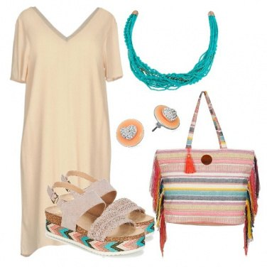 Outfit La borsa in tela multicolor