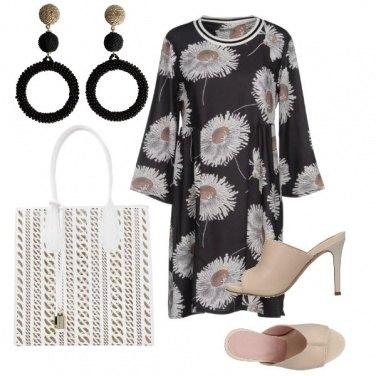Outfit Macro margheritine sul vestito