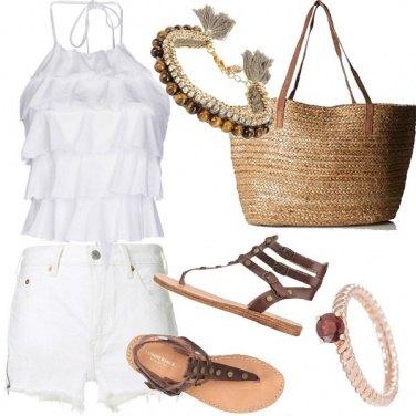 Outfit Bianco e marrone boho