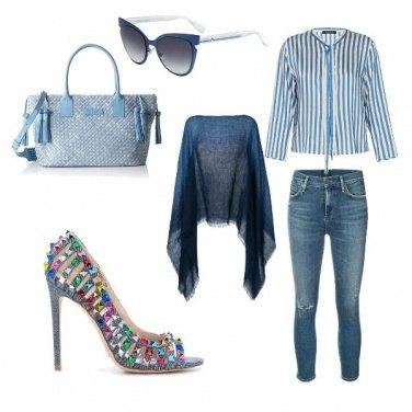 Outfit Azul con brio