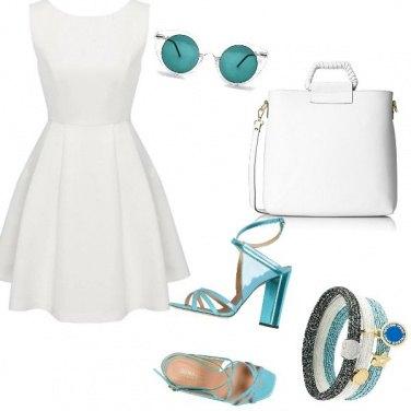Outfit Bianco e turchese