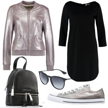 Outfit Argento e nero