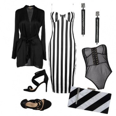 Outfit Sexy black and white