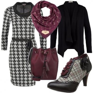 Outfit I love pied de poule!