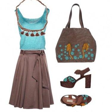 Outfit Fiori azzurri