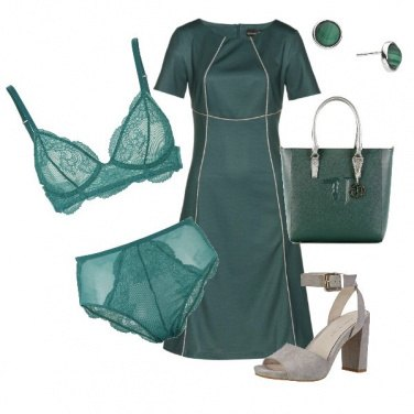 Outfit Bon ton in verde bosco