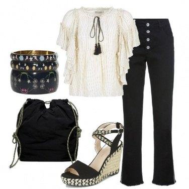Outfit La blusa e il bootcut