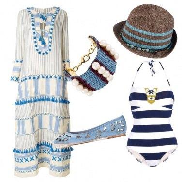 Outfit Etnico e chic al mare