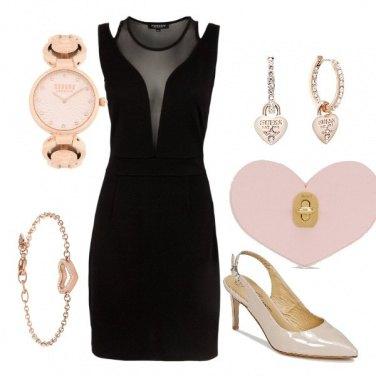 Outfit Elegante in nero e rosa