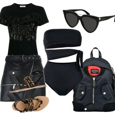 Outfit Rock in spiaggia