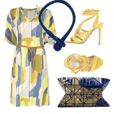 Outfit Blu e giallo pastello