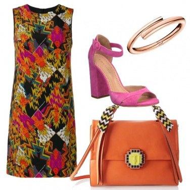 Outfit I colori caldi e decisi