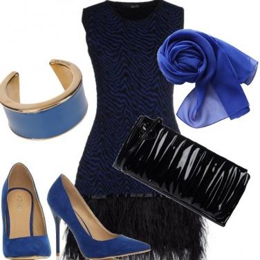 Outfit Piume e taffetà