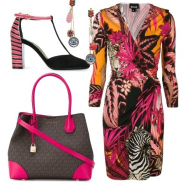 Outfit Fucsia dominante