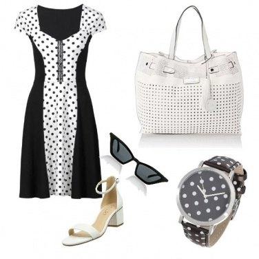 Outfit Pallini bianchi e neri