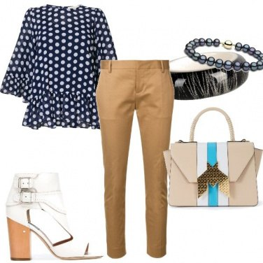Outfit Pois e beige