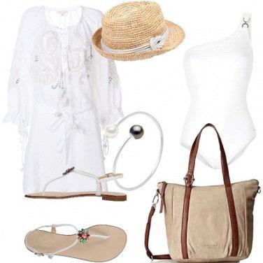 Outfit Al mare, di bianco