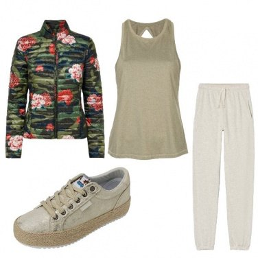 Outfit Fitness nel bosco