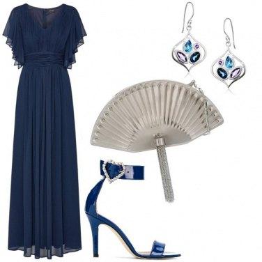Outfit Blu e argento, classica