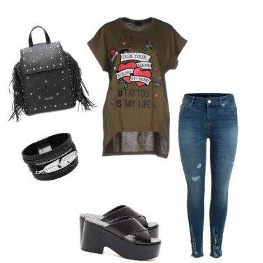 Outfit Cuori rock