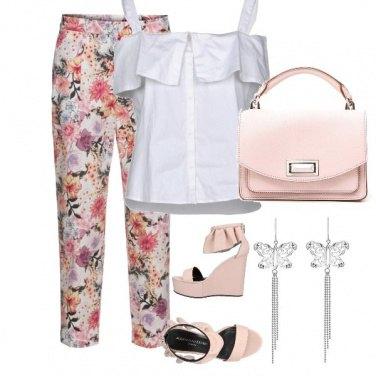 Outfit Aperitivo in bianco e rosa