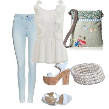 Outfit Borsa di tela bucolica