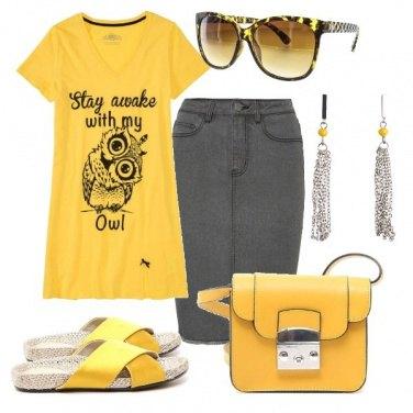 Outfit Gufo giallo