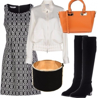 Outfit Minidress e stivali