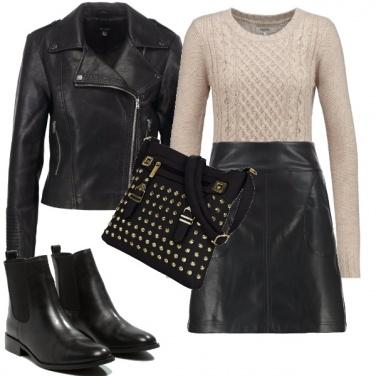 Outfit Nero e beige nel tuo stile rock