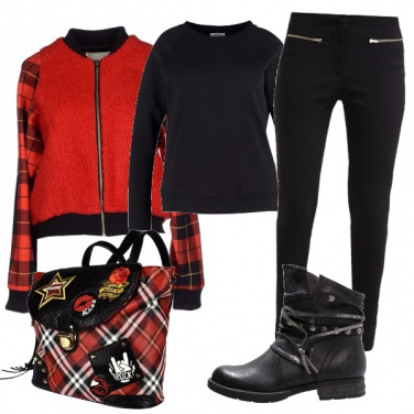 Outfit Autunno a scacchi