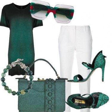 Outfit Bianco e Verdone