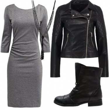 Outfit Look black and grey
