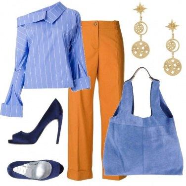 Outfit Camicia asimmetrica