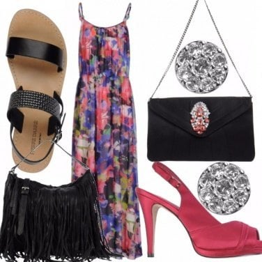 Outfit Long dress passepartout