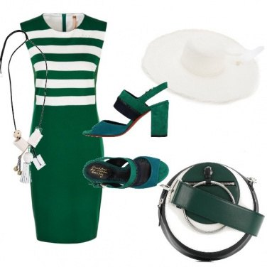 Outfit Verde e bianco