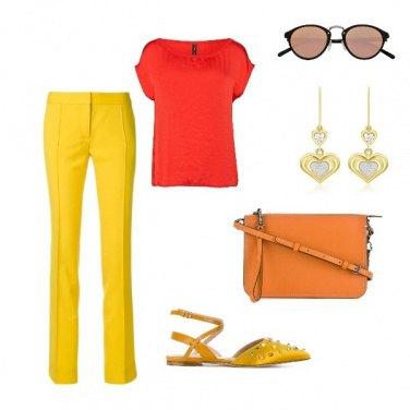 Outfit Pantalone giallo