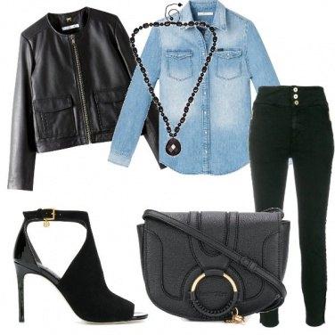Outfit Nero e denim