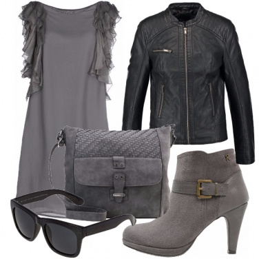 Outfit Almost total grey