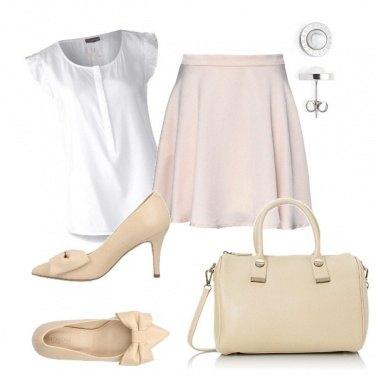 Outfit La gonna in raso