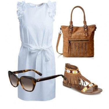 Outfit Bianco e frange