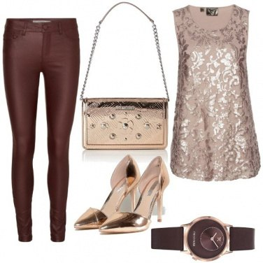 Outfit Brown & Gold