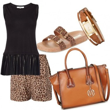 Outfit Casual leopardato