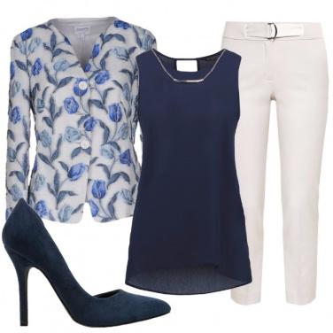 Outfit Blazer a fiori