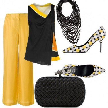 Outfit Giallo e nero